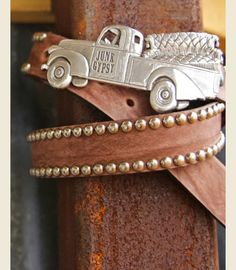 JUNK TRUCK BUCKLE - perfect for that wanderin', junkin' heart o' yours! custom made by the Junk GYpSy co.