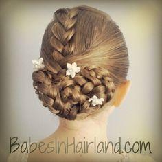 Braided updo I did on Instagram from BabesinHairland.com #braids #updo #wedding