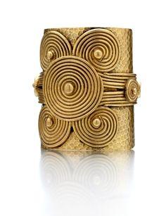 Brass Nefertiti Cuff Bracelet