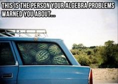 the typical math problem.