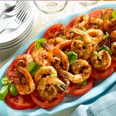 Buttery Grilled Shrimp With Tomatoes. #grilling #recipe #shrimp