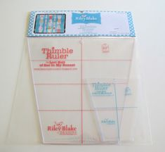 """A set of 2 quilting rulers shaped like a thimble!  You can easily use the large Thimble Ruler with pre-cut 10 squares and the smaller size with pre-cut. Use to make Dresden plate flowers. I prefer the smaller size to make a flower for a 12"""" block."""