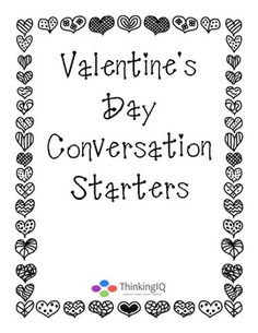 Free Valentine's Day Conversation Questions and writing prompts conversation starters, valentine day, famili, writing prompts, celebr valentin, free printabl, convers starterst, free valentin, convers question