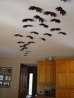 I'm thinking bats flying out from the garage door...