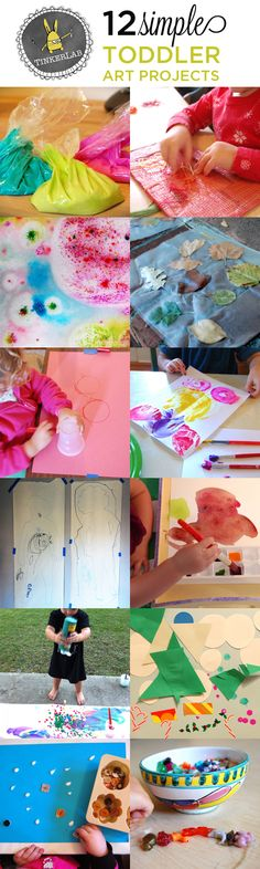 Keep little hands busy with one of these 12 toddler art projects.