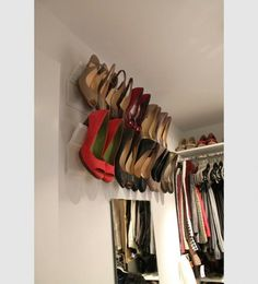 25+ Clever Household Tips  Great use for crown molding! Smart!
