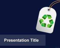 Free Eco Tag PowerPoint Template with violet background template color