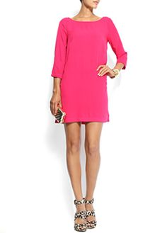 Hot pink shift dress!