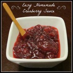 Easy Homemade Cranberry Sauce Recipe