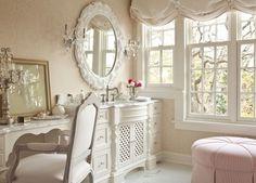 interior, shabby chic decor, makeup vanities, shabbi chic, shabby chic cottage