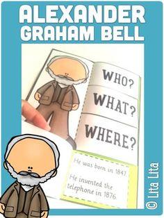 FREE GRAHAM BELL foldable! English&Spanish