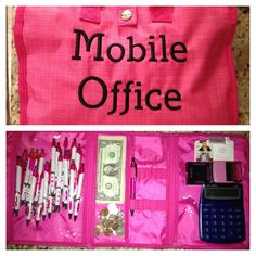 Thirty-One Timeless Beauty Bag in Pink Cross Pop...This could work for so many different consultants!!!