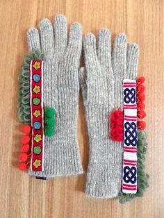 wool,cube,wool!(ウール・キューブ・ウール) ウール手袋(グレー) - caro mio online shop