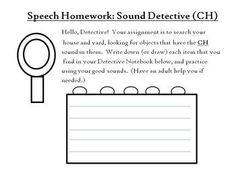 Articulation Homework Packet - 52 pages, 13 sounds!