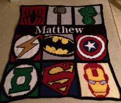 SuperHero Blanket  For more info go to MaggiesCloset09 on Facebook.