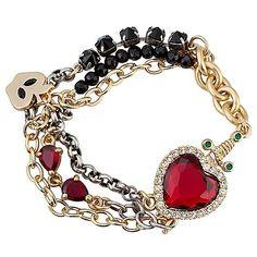 Disney Villains Crystal Evil Queen's Heart Box Snow White Bracelet by Disney Couture