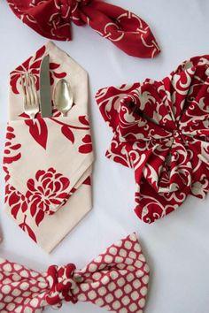 Festive Napkins for Your Sweetheart     Hen House Linens