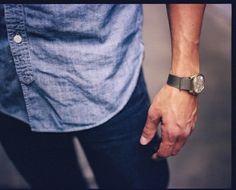 chambray + a good wrist watch goes a long way.