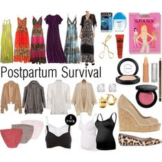 Postpartum Survival aka loads of grundies, spanx and flowy easy-access dresses.