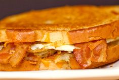 Bacon, Egg & Hash Brown Grilled Cheese Sandwich