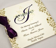 Wedding Program - Jessica Lam Designs