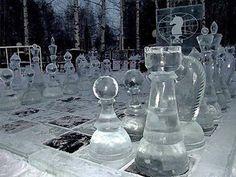 Chess set Ice Sculpture