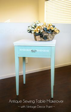 Antique Sewing Table Makeover on kleinworthco.com