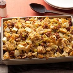 Sausage, Apple, and Walnut Stuffing- this sounds interesting maybe I will give it a try.