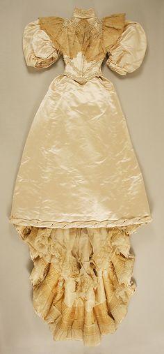 Wedding Dress 1894, American, Made of silk