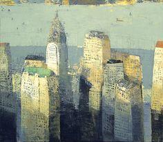 """Paul Balmer, """"Blue Dusk""""  2009 oil on canvas"""