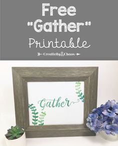 free gather printabl