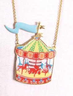circus necklac, boutiques, pendants, accessori, carousel pendant, necklaces, carousels, jewelri, carousel necklac