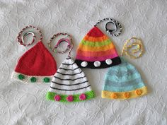 Hand Knitted Baby Hat-Pixie-Elf-Jester-Santas Helper- Knitted Baby Hat ...
