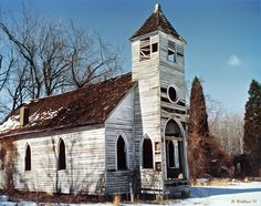 ABANDONED CHURCHES | Abandoned Church - Winter Photograph - Abandoned Church - Winter Fine ...