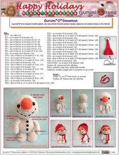 Amigurumi Snowman Free Pattern