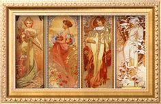Alphonse Mucha alphons mucha, seasons, art prints, 1900, alphonsemucha, artist, les saison, art nouveau, alphonse mucha