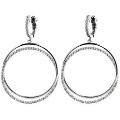 These fun and flirty 1.61 carat diamond hoop earrings are perfect for any occasion and add a lot of sparkle!