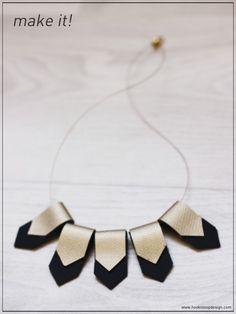 hook n loop design english: Geometric Necklace DIY