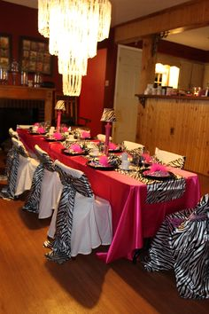 zebra striped birthday party