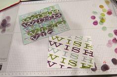 Alternate Technique for July 2014 kit --Stencil Technique; Handmade Cards; Paper Pumpkin; Stampin' Up!; Tamara's Paper Trail