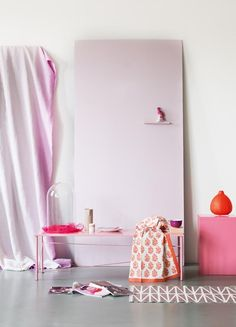 nice palette & styling interior design, pink summer, pastels, color palettes, elle decor, style, pastel pink, dream hous, inspir