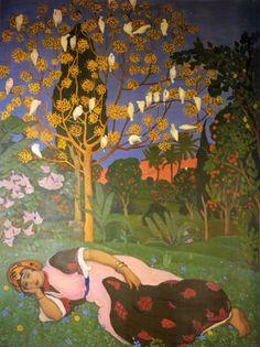 Woman Dreaming - Suréda André (1872-1930)