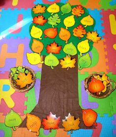Fall Tree Sight Word Review Game