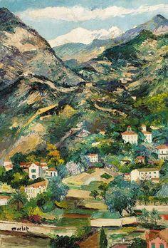 Provencal landscape, Elisée Maclet. French (1881 - 1962)