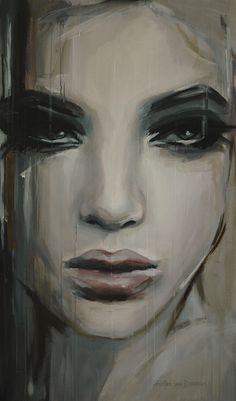 """Saatchi Online Artist: Hesther Van Doornum; Acrylic, 2013, Painting """"See beneath your beautiful"""""""