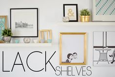 LACK SHELVES - a lesson on how to hang Lack shelves on a wall with no studs