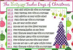 Thirty One Party Ideas | Thirty-one Party ideas--FUN / ThirtyOne Twelve Days of Christmas gift ...