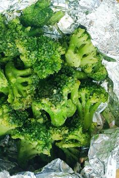 Tuscan Seasoned Foil-Pack Broccoli - add Green Giant Steamers Tuscan Seasoned Broccoli with Parmesan cheese and seasoning to foil and put on the grill!