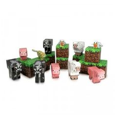 Minecraft Papercraft Overworld Animal Mobs