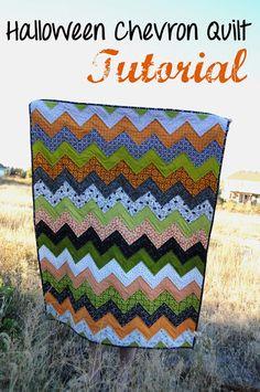 sew, idea, craft, halloween chevron, quilts, fabric blog, chevron quilt, diy, quilt tutorials